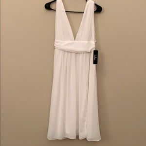 Lulu's white midi dress